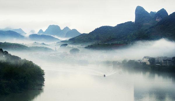 位于广西平乐县大发瑶族乡巴江